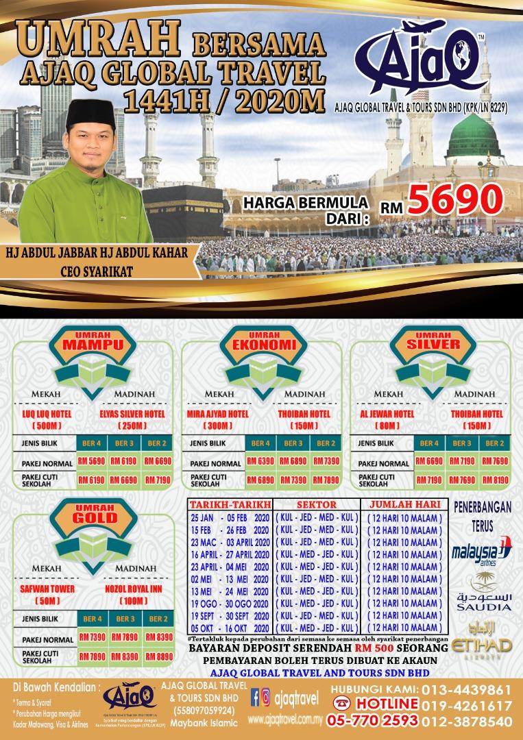 Pakej Umrah AjaQ Travel 2020